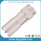 F Compression Connector voor rf Coaxial Cable Rg59 RG6 Rg11 (F043)