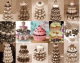ChristmasまたはWedding/Birthday Craftのための6層Crystal Acrylic Round Cupcake StandかRound Perspex Cake Display Tools Suitable
