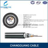 El cable de fibra óptica multifilar GYTA33 trenzó precio enterrado directo al aire libre del cable subacuático del cable óptico de fibra del tubo del cable acorazado flojo del alambre de acero