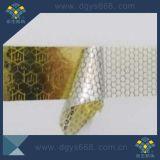 Projetar etiquetas evidentes da segurança do favo de mel da calcadeira do holograma