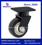 Black PU Wheel Total Brakeとの1トンの重義務Caster