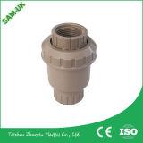 Soupape de l'approvisionnement UPVC d'usine, robinets, plot ou amorçage simple à tournant sphérique de syndicats de PVC pour les garnitures Pn10, Pn16 de PVC