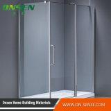 Cabine do chuveiro de Frameless da porta deslizante do setor um