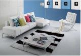 L moderne sofa de cuir de forme avec la patte d'acier inoxydable (SF011)