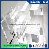 Do molde transparente do espaço livre da cor da fábrica de China folha acrílica plástica do plexiglás