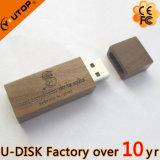 movimentação de madeira do flash do USB do logotipo 1-128GB feito sob encomenda (YT-8101L)