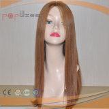 Peluca rubia atada mano completa de las mujeres del color del cordón del pelo humano