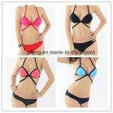 2016 vollständige Verkaufs-reizvoller Bikini mit Farben-Kombination
