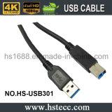 USB plaqué par or à grande vitesse chargeant le câble de synchro