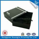 Contenitore di regalo rigido del documento nero di colore con il cassetto