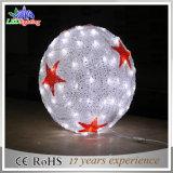 Luz de perseguição branca da decoração do Natal da esfera do diodo emissor de luz 3D