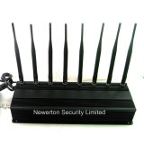 8 VHF Lojack Jammer di frequenza ultraelevata delle antenne 4G Cell Phone GPS WiFi Signal Jammer