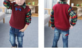 Lange Hülsen-Baby-Strickjacke mit Bowknot