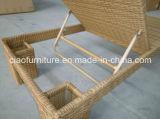 Salotto di vimini di vendita caldo del Chaise della mobilia del patio di 2016 Foshan