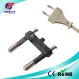 2 inserção pequena do plugue de potência do Pin 2.5A Europa