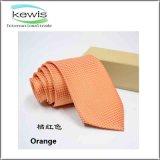 Cravate contrôlée de couleur orange bleue rose de relation étroite de collet de marine