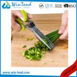 Tesouras da erva da cozinha do aço inoxidável do Manufactory com punho de TPR
