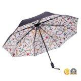 [سمي-وتومتيك] سوداء يكسى [سون] ثني مظلة