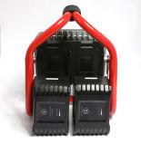 Zwei PCS des abnehmbaren nachladbares LED Licht Batterie-Satz-