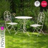 3PCS 단철 정원 테이블 의자 작은 술집 세트