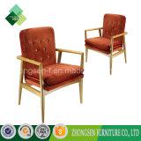 Cadeira de madeira do descanso da poltrona do estilo elegante para o apartamento do hotel (ZSC-47)