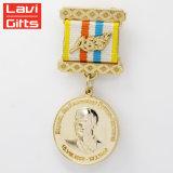 製造業者の安いカスタム金属アラブ首長国連邦のいぶし金めっきされた米国軍Pinは星の名誉メダルハンガーおよび首のリボンを与える