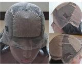 실크 최고 Virgin 브라질 사람의 모발 Glueless 가득 차있는 레이스 가발