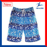 Shorts baratos da praia do Sublimation da tintura do desenhador de Healong
