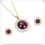 De Reeks van de Juwelen van het Roestvrij staal van de Juwelen van het Kristal van de Juwelen van de manier (JS0265)