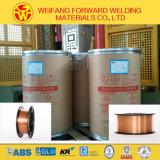 Soudure de cuivre du fil de soudure de MIG des produits 1.6mm 250kg/Drum Er70s-6 de soudure Sg2 avec l'armature de gaz de CO2