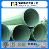 Tubo di plastica della fibra di vetro di prezzi bassi di alta qualità (tubo di GRP)