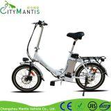E-Bici plegable de la bicicleta eléctrica de la ciudad de la batería de litio de 20 pulgadas