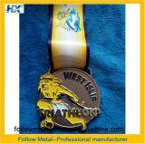 Triathlon、西Islipの砂吹きのためのカスタム金属メダル