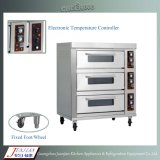 Duas bandejas de plataforma Pizza Baking Gas Oven Manufacturer