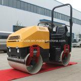 Doppeltes Dum Stahldieselrad-Minivibrationsrolle Perkins-mit hydraulischer Steuerung (FY-900)