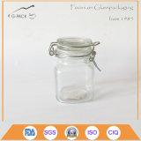 Cap 높은 쪽으로 Flip를 가진 작은 Glass Salt Jar