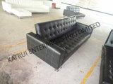 Кровать софы PVC черная сложенная популярная