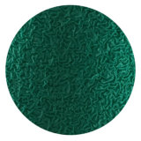 guantes cubiertos palma amarillenta del trabajo del látex de la arruga del verde del shell de 10g Tc