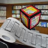 Papier de soie de soie estampé par coutume de nouveauté de rouleau de papier hygiénique de plaisanteries