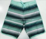 Swimwear a strisce di Short della scheda degli uomini del poliestere piano della vita di Oeko-Tex