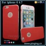 Het geborstelde Geval van de Telefoon van de Cel TPU voor IP iPhone 6 van de Telefoon
