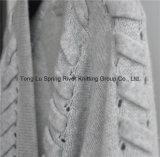 30%Cashmere 70%Wool gekopierte Wolljacke der Dame-Opean