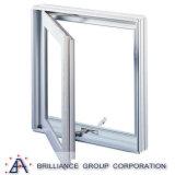 Ventana de cristal de aluminio de la ventana del marco/del marco del oscilación del doble