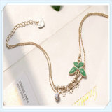 Chaîne de cheville neuve de bijou de mode de point de guindineau d'époxy de couleur verte de modèle