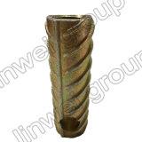 Socket de elevación de acero de la cuerda de rosca Herringbone en los accesorios del concreto de prefabricación (M20X150)