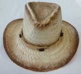 Straw natural Hat con Wood Beads Hat Band Cl223