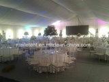 Tienda de lujo de la guarnición de 500 personas con la carpa de madera de la boda del suelo