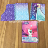 Glitter Design Die-Cut Card Cover A5 School Exercício Notebooks