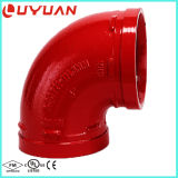 O ferro Ductile sulcou o cotovelo de 90 graus com aprovaçã0 de FM/UL para o sistema da luta contra o incêndio