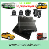 4 sistemas de vigilância video do auto escolar da canaleta 3G/4G com movimentação dura DVR móvel do SSD de HD 1080P e câmera impermeável da visão noturna & GPS
